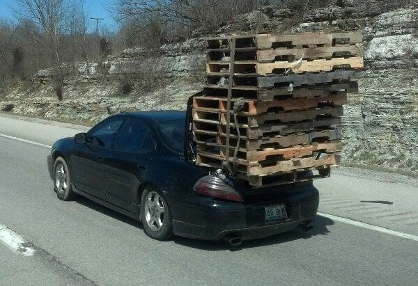 Overloaded Car