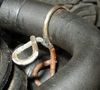 radiator hose leak