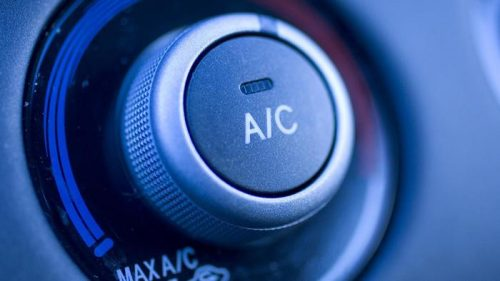 car AC blowing hot air