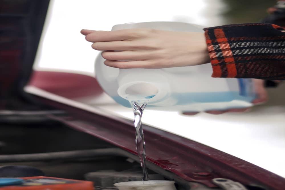 windshield washer fluid is frozen