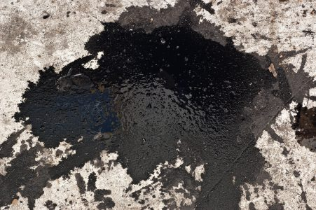 car leaking oil