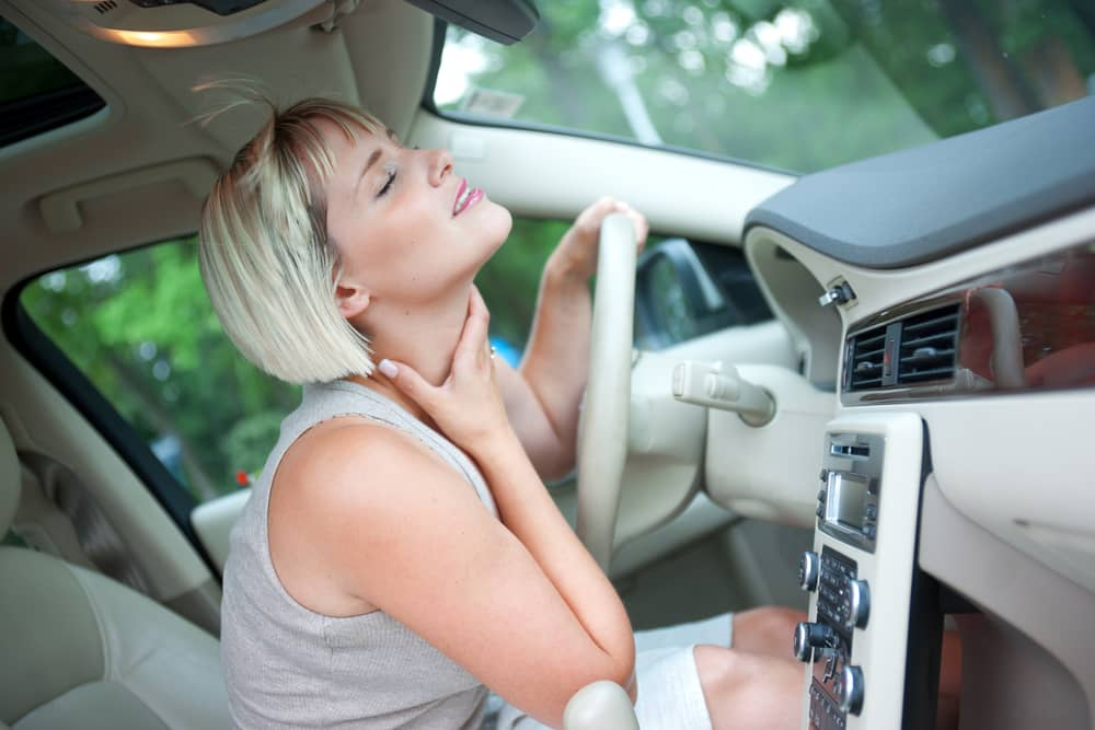 car ac blowing hot air