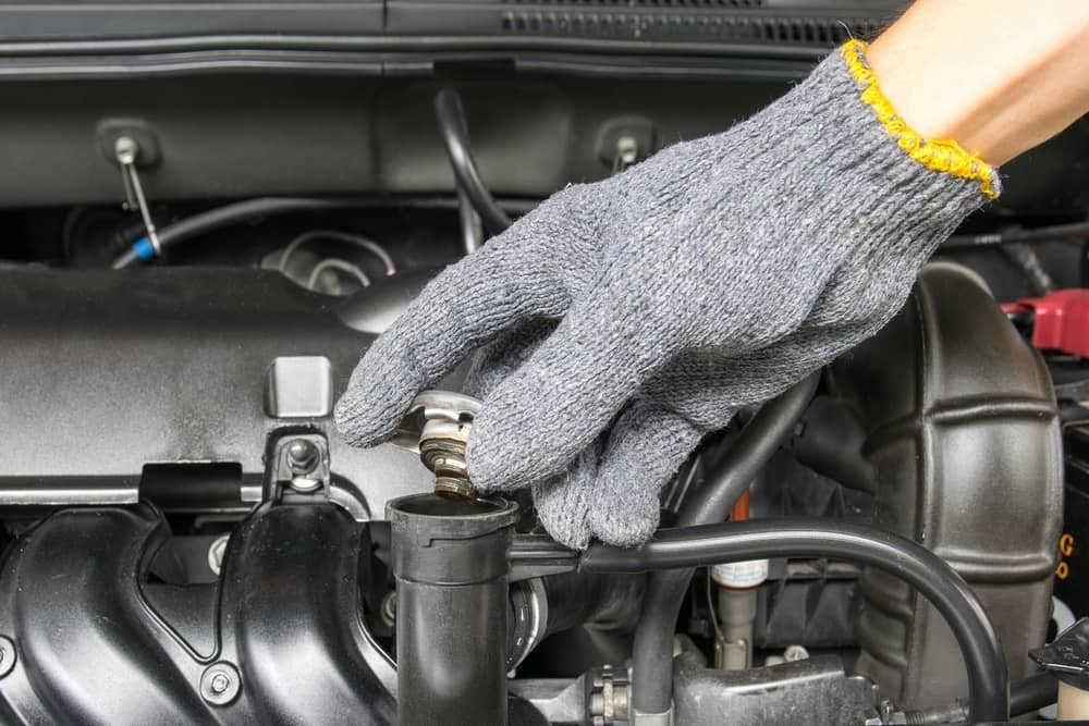radiator cap, oil in your radiator