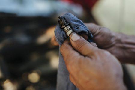 spark plug, oil on your spark plug