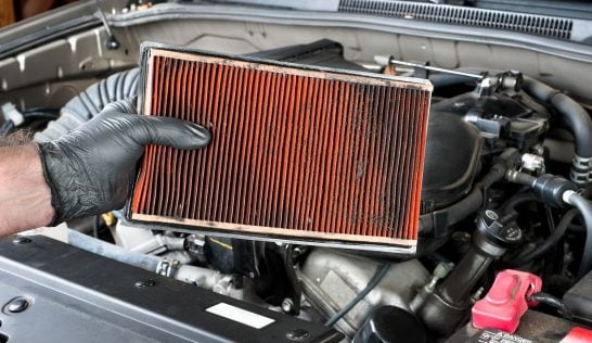 changing an engine air filter