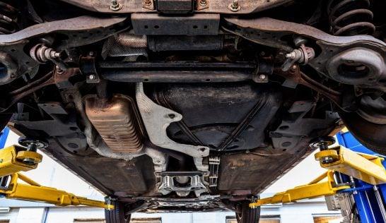 bottom of a car, change transmission fluid