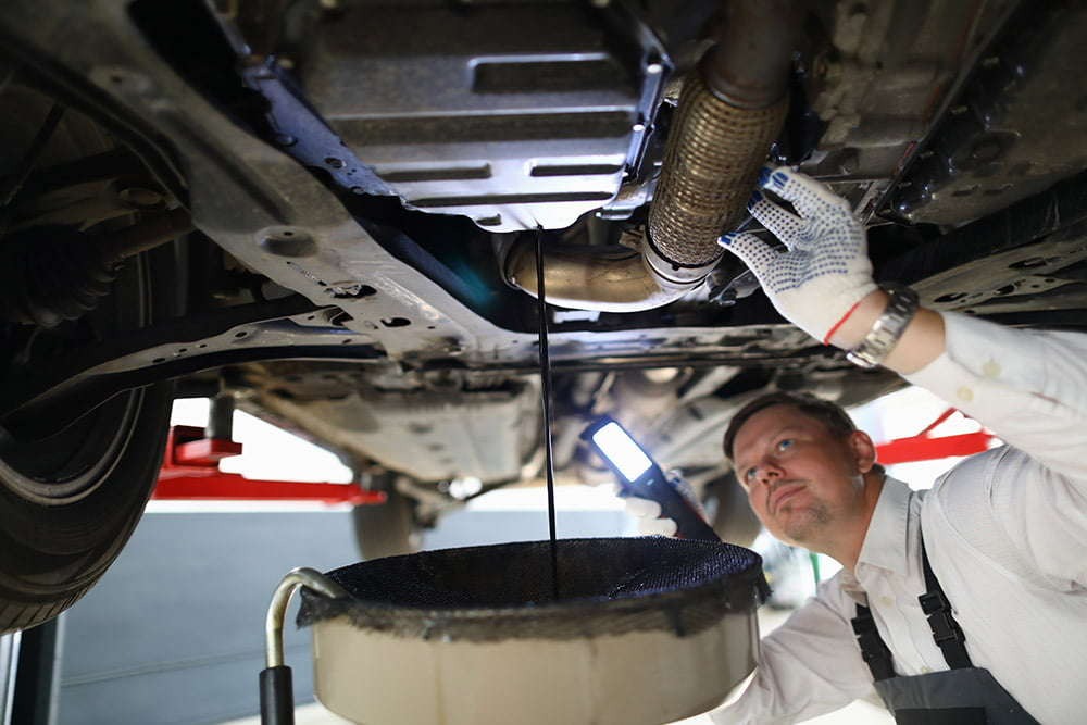 Learn why your oil might be leaking after an oil change and how to fix it from the automotive expert at BlueDevil Products