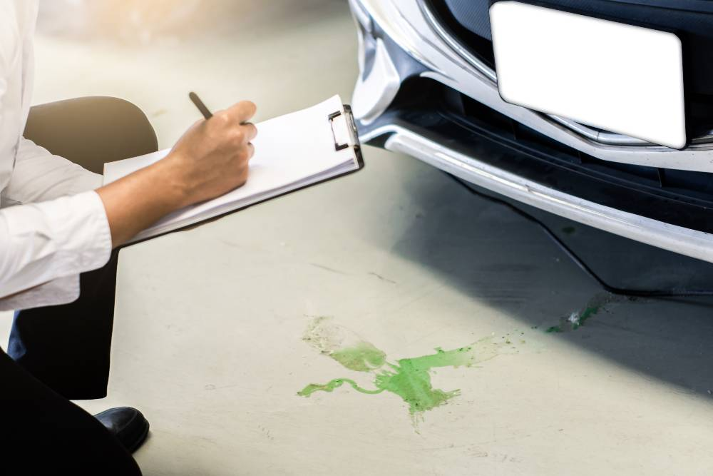 Learn about car leaks, what the different color fluids are, and how to fix the leaks from the auto pros at BlueDevil